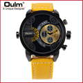 wrist watches big size, teenager designs fashion watches, oulm brand quartz watches men HP3130