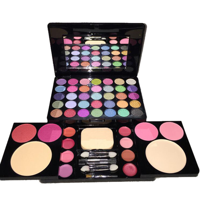 35 color Eye Shadow Palette Matte Shadow Eyeshadow Makeup Tools  With Blush  Lip Gloss  Foundation  Mirror Set