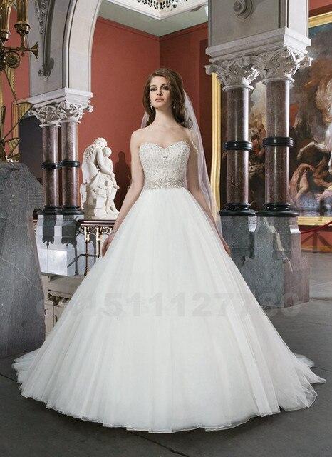 Novia Sin Tirantes Vestido de Novia Vestido De Noiva 2017 Sexy Blanco/Marfil Con Cuentas vestido de Novia
