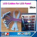 10 pcs 20 cm cabo de dados para p2.5 p3 p4 p5 p6 p8 p10 p7.62 módulos, Painel de led