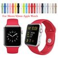 15 Цветов Apple Watch Ремешок 38/42 мм Силиконовой Лентой С разъем Адаптера Для Apple Watch Band Для iWatch Спорт Пряжки браслет