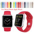 15 colores apple watch correa 38/42mm banda de silicona con adaptador de conector para apple watch band para iwatch deportes hebilla pulsera