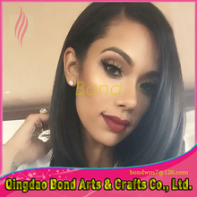 Best selling virgin full lace human hair wigs glueless long straight brazilian human hair lace front wig for black women