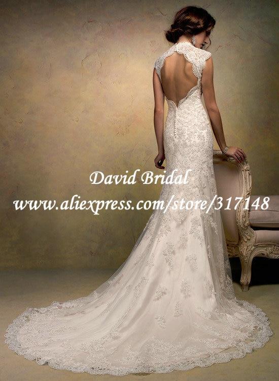 EF1604 Vintage Beaded 2013 Designer Sheath Spanish Lace Bridal Wedding  Dress Keyhole Back-in Wedding Dresses from Weddings   Events on  Aliexpress.com ... 078d3edb94d7