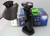 черный моющийся мужская бритва rq1150 3д лезвие бритвы с плавающей шпон с USB зарядка бесплатная доставка