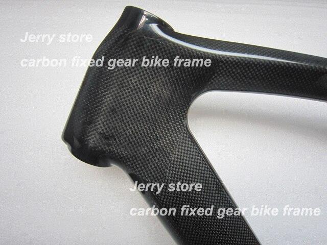 carbon fiber track bicycle frame700c fixed gear single speed bike frame hot sale56cm