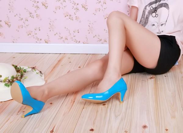 женская мода обувь свободного покроя синтетическая кожа острыми носами высокие каблуки женские туфли на высоком каблуке сша размер 4 - 14.5 / ес 34 - 47 s008