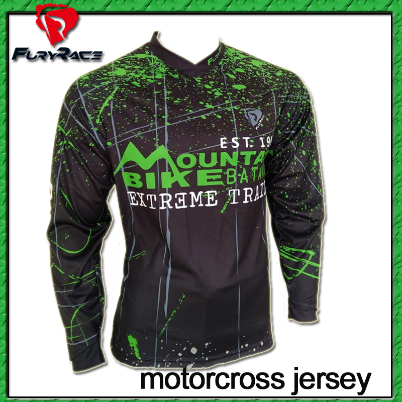 Prix pour Plus de Modèles! fureur de Course Hommes Moto Motocross Racing DH Descente Jersey MX VTT t-shirt Jersey Vélo vêtements de Cyclisme Vêtements