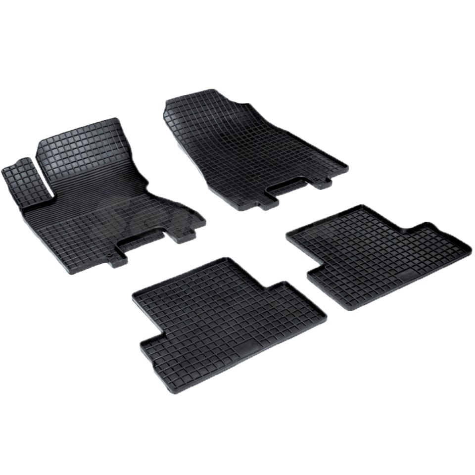 For Nissan X-Trail T31 2007-2014 rubber grid floor mats into saloon 4 pcs/set Seintex 00562
