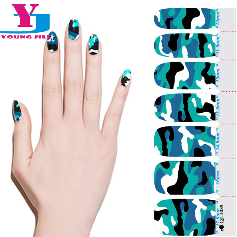 Fashion Camouflage Style Nail Stickers Foil Non Toxic Nail Polish ...