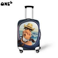 ONE2 Material Nylon 22 24 26 Inch Suitcase Cover With Printing And Plastic Protective Luggage Cover