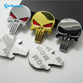 """Car Styling Car Auto 3D Emblem Stickers Frank Castle Decal Mr.Smith SKULL Badge Marvel """"THE PUNISHER""""100% Metal New Car Stickers"""