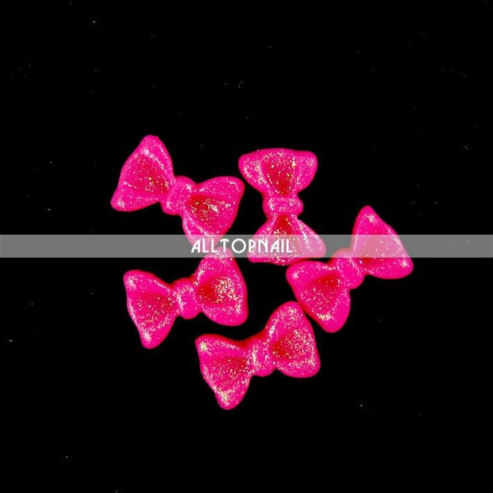 100 шт Разноцветные 3D блестящие бантики для ногтей Bowtie акриловые украшения для ногтей