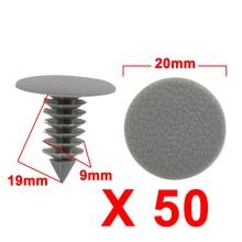 X Autohaux 50 шт. серый пластиковый дверной бампер нажмите заклепки зажим 9 мм для автомобиля