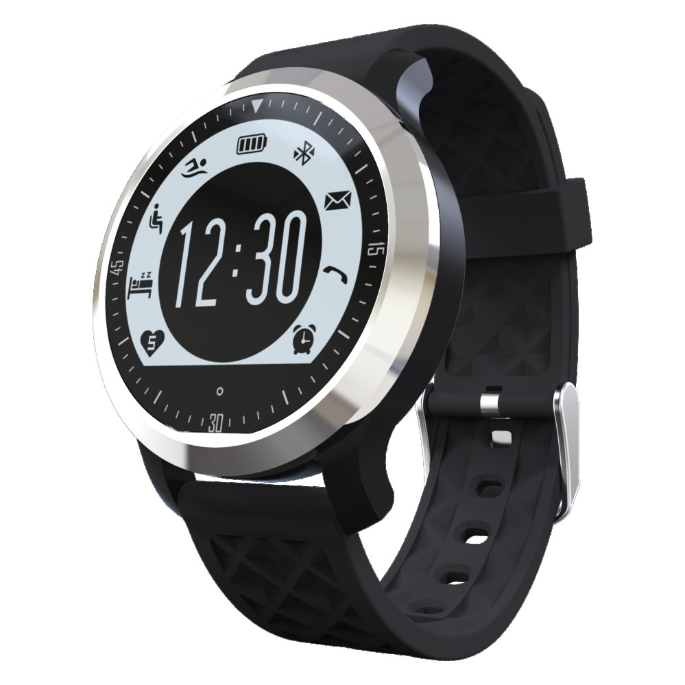 Backlight Waterproof Bluetooth font b Smartwatch b font For Android Apple Watch F69 with Heart Rate