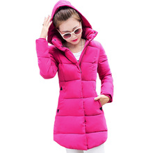 Autumn and Winter Women Coat 2016 New Korean Ladies Long Parkas Causal Slim Thin Cotton Padded