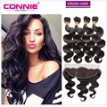 Malaysian Body Wave Lace Frontal 13x4 Free Part With 4 Bundles Human Hair Unprocessed Malaysian Body Wave Hair With Lace Frontal