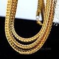 Высокое качество 100% 24 К позолоченные 90 см длинные кубинский звено цепи хип-хоп франко сеть себе ожерелье молодых Jeez джей - Z мужчины ювелирных изделий