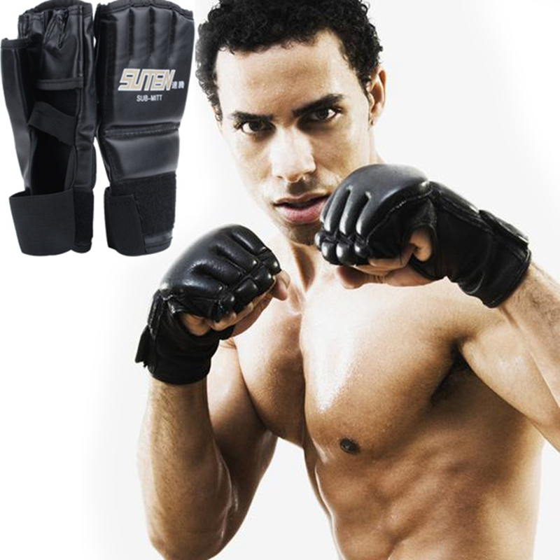 Punching Gloves and Fitness Training 1 Pair of New Boxing Black