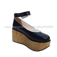 2011 новый лианы клин танкетке лолита готический туфли женщина + бесплатная доставка