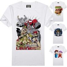 Anime T-shirt Ein Stück Dragon Ball TMNT Nostalgische Design T-shirt Mode Lässig Lustige Cartoon T-shirt Männer Frauen Printed T
