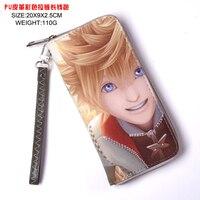 Anime Kingdom Hearts Sora Cool PU Wallet Long Style Purse with Zipper