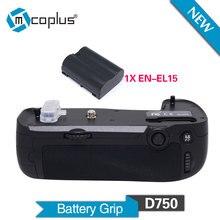 Mcoplus BG-D750 Вертикальная Ручка-Держатель Аккумуляторов с 1 шт. EN-EL15 для Nikon D750 Майке DSLR Камеры как MB-D16 MK-D750
