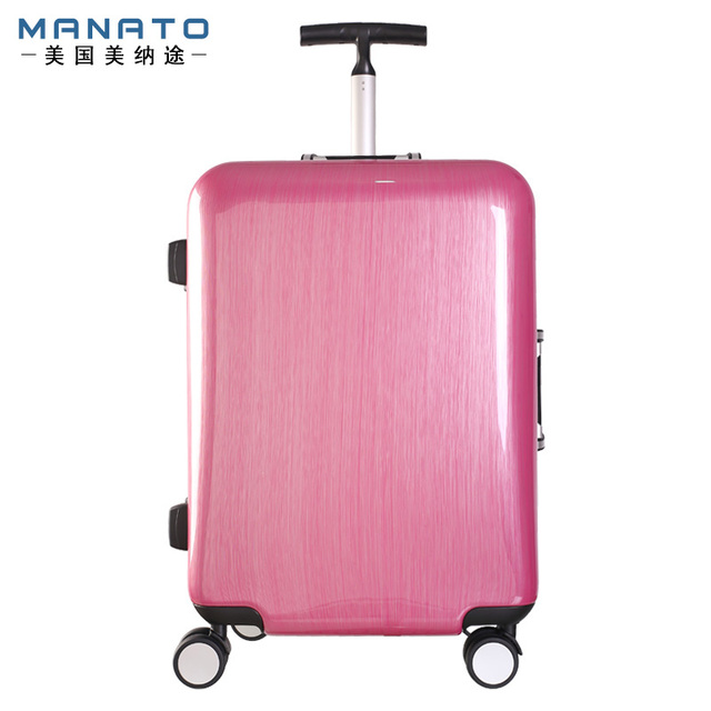 Manato Aluminum Frame Trolley Luggage Suitcase Caster Board Chassis Lockbox Singles Rod Luggage Unisex Luggage 25 Inch