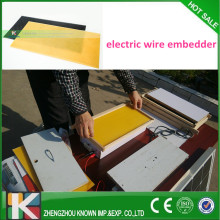 Electric heating wire embedder/electrical wire embedder for beekeeper