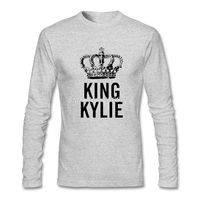 New Style Men S T Shits King Kylie Latest Long Sleeve Crew Neck Tee Cotton Lowest