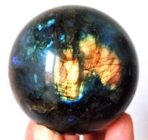Neuheiten 100% natur labradorit quartz kristall ball healing für verkauf