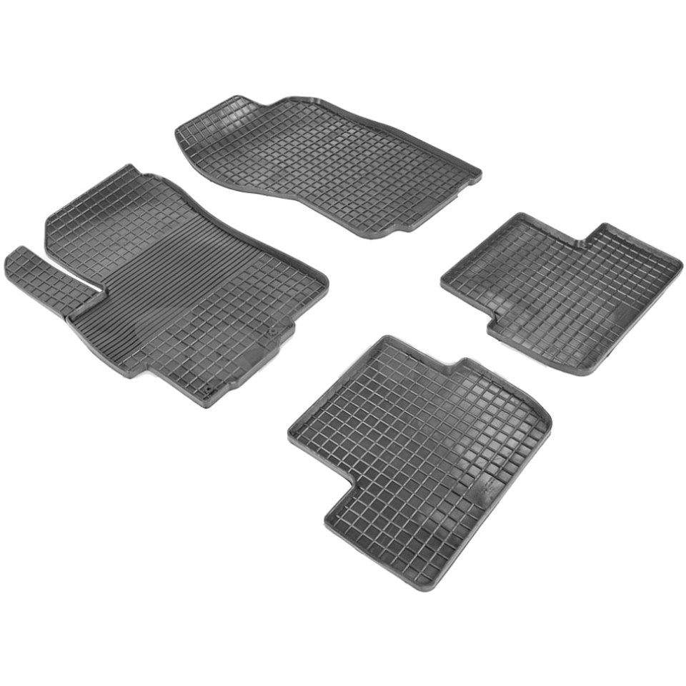 Rubber grid floor mats for Mitsubishi Lancer X 2007 2008 2009 2010 2011 2012 2013 2014 2015 Seintex 00551 rubber grid floor mats for honda accord viii 2008 2009 2010 2011 2012 seintex 00758
