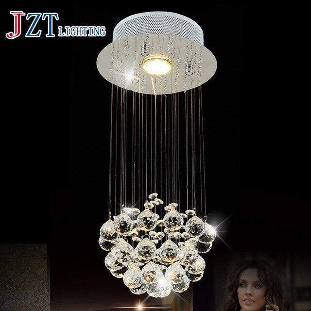 T Best Price Modern Lustre Crystal Chandelier Dining-room Lamp Droplight Pandent Lamp LED light For Entrance way Aisle