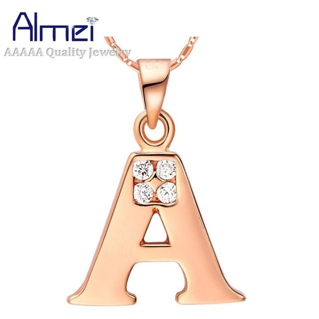 Brief Collares voor Vrouwen Rose Goud Kleur Hangers Verklaring Ketting Abcd E F G H I J K L M N O P Q R S T U V W X Y Z N958