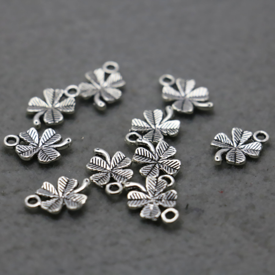 10PCS Hot Wholesale Fittings for Alloy Accessory Flowers separate Jewelry Making Design components Findings 10 15mm