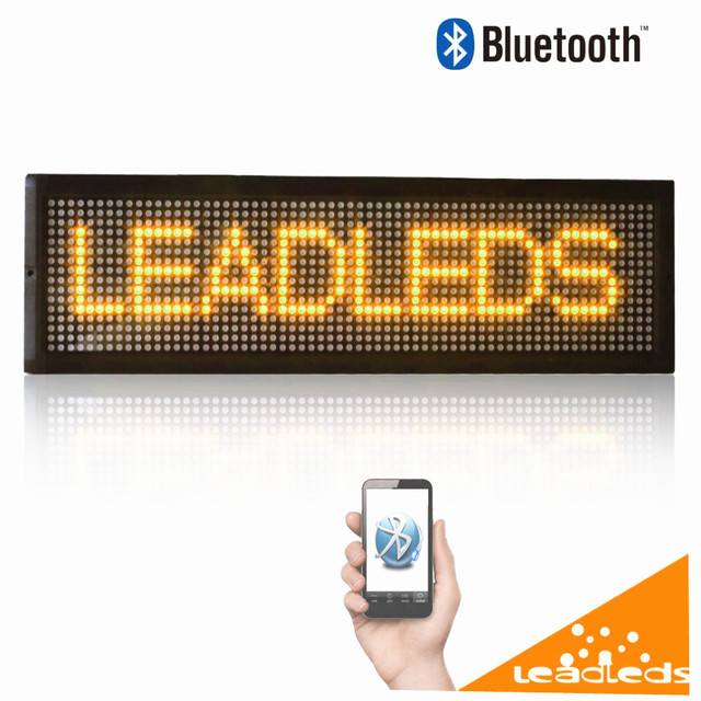 12 В СВЕТОДИОДНАЯ Вывеска Bluetooth Пульт Дистанционного Управления Программируемый Прокатки информационные Светодиодные табло Автомобиля 16X64 пикселей diy kit