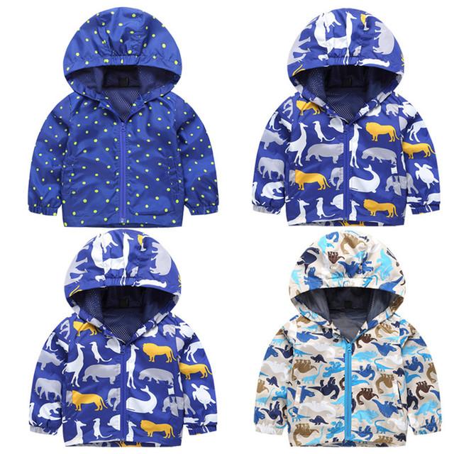 Ropa de niños Del Bebé de Las Chaquetas 2016 de Dibujos Animados Ocasional prendas de Abrigo Con Capucha Capa de Las Muchachas de Primavera y Otoño Pizex Niños chaqueta de Punto de Impresión