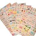 6 Hoja de Pegatinas para el Diario De Papel Libro Libro de Recuerdos Decoración de La Pared para la decoración * pegatinas de Dibujos Animados