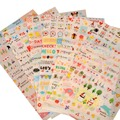 6 Sheet Paper Stickers for Diary Scrapbook Book Wall Decor for decoration*Cartoon stickers