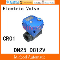 CWX 25S Stainless steel Motorized Ball Valve 1 DN25 Water control Angle valve DC12V 2 way wires CR 01