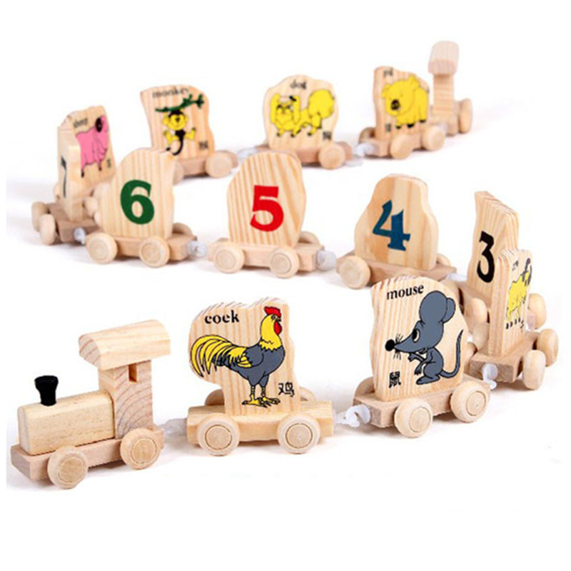 Online Buy Wholesale chinese wood block from China chinese wood ...5cm Building Kits Wood Truck Chinese Zodiac Toy Educational Train Car Baby  Toys For Children Digit