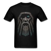 Gorgeous T Shirts Men Boy 100 Cotton Short Sleeve Odin Vikings Group Tops Clothing Men T