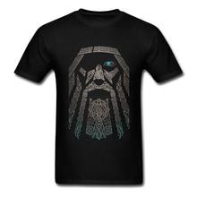 Великолепная Т Рубашки Мужчины Мальчик 100% Хлопка С Коротким Рукавом Один Vikings Группу Возглавляет Clothing Men T-Shirts