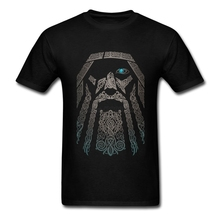 Gorgeous T Shirts Men Boy 100% Cotton Short Sleeve Odin Vikings Group Tops Clothing Men T-shirts