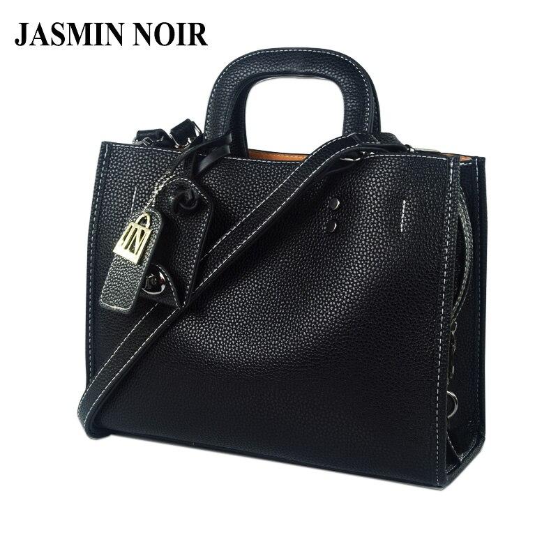 JASMIN NOIR Winter New Women Leather Handbag Large Lady Briefcase Female Laptop Crossbody Bag Brand Designer Tote Bag духи bvlgari jasmin noir 1 5ml