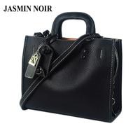 JASMIN NOIR Winter New Women Leather Handbag Large Lady Briefcase Female Laptop Crossbody Bag Brand Designer