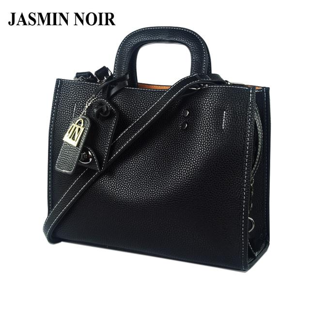Jasmin noir invierno nuevas mujeres bolso grande de cuero de la señora crossbody maletín portátil femenina bolsa de diseñador de la marca bolso de mano
