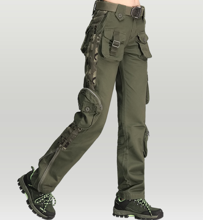 Winter Man Pants Camouflage Multi Pockets Cargo Pants Thicken Cotton Military Army Tactical Pants Womens Capris