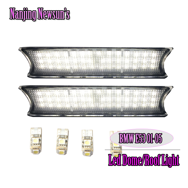 Ultra Bright Led Interior Lights Car Light Dome Lighting Roof Reading Lamp Auto Bulb For Bmw E53 01-05 Before Facelift White partol black car roof rack cross bars roof luggage carrier cargo boxes bike rack 45kg 100lbs for honda pilot 2013 2014 2015