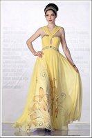 высокое качество желтый вечернее платье клуб платье коктейль платье чудик платье с тазика d30319 бесплатная доставка